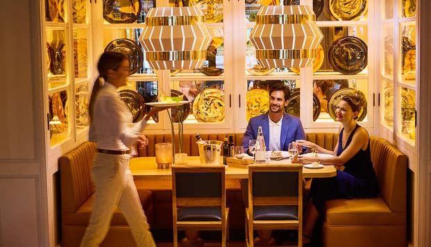 Spa Lovers con cena: Spa, sales de baño, botella de cava y cena 5* en Caldes de Malavella