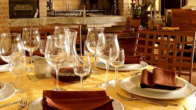 Un dîner typique à la périphérie de Pérouse