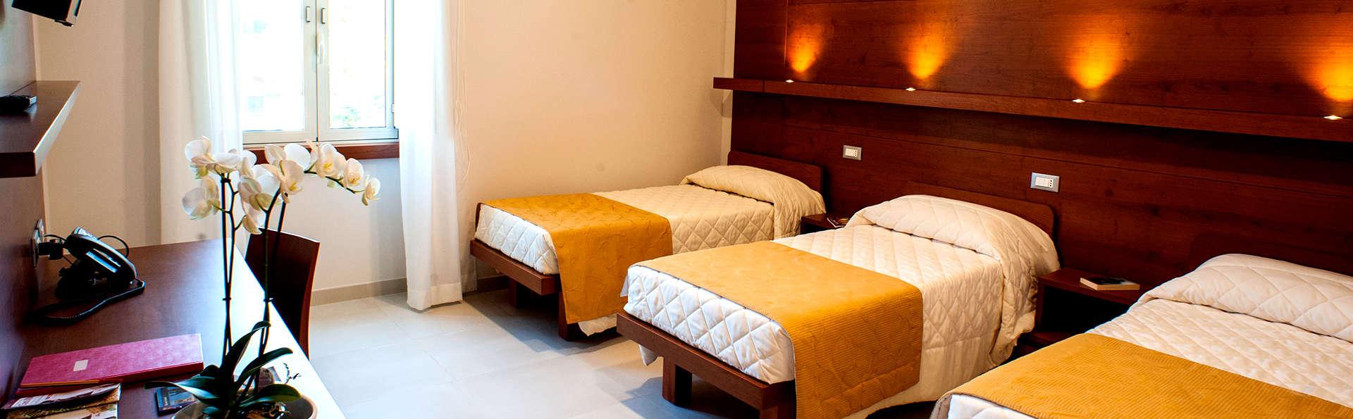 Hôtel à Rome en chambre quadruple avec parking privé inclus