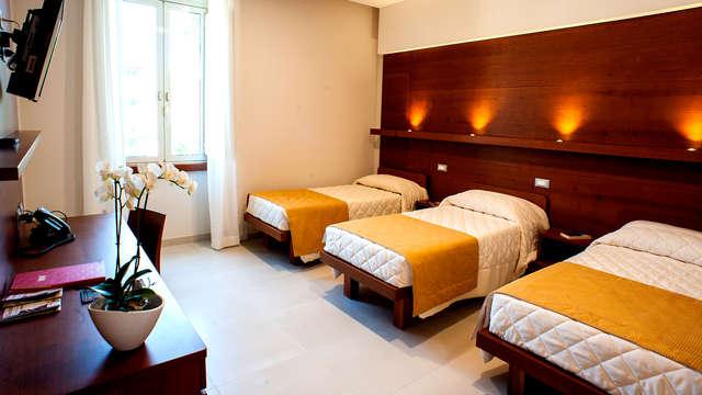 Hotel a Roma in camera quadrupla con parcheggio privato incluso