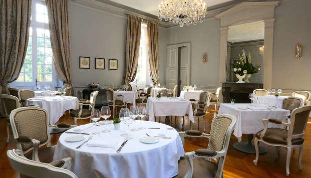 Cena de categoría en un castillo cerca de Toulouse