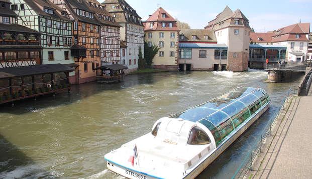 Week-end découverte avec promenade en bateau-mouche à Strasbourg