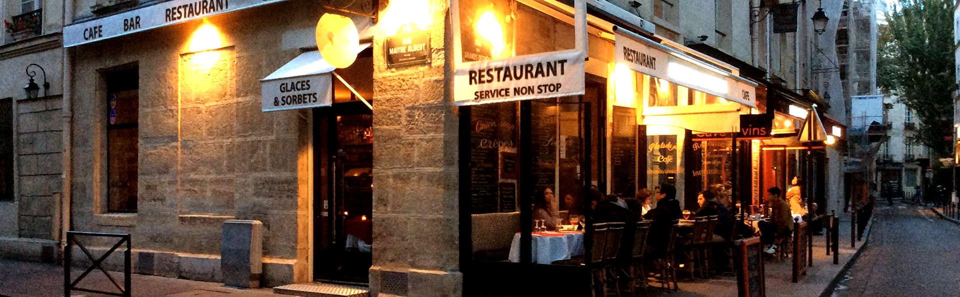 Week-end détente et gourmand avec déjeuner ou dîner à deux pas de Notre-Dame de Paris